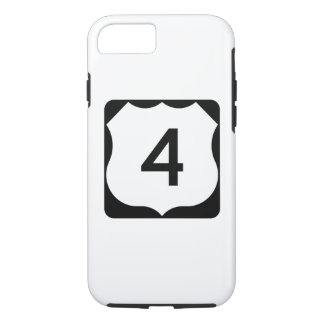 Funda Para iPhone 8/7 Muestra de la ruta 4 de los E.E.U.U.