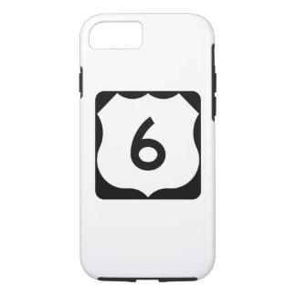 Funda Para iPhone 8/7 Muestra de la ruta 6 de los E.E.U.U.