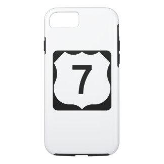 Funda Para iPhone 8/7 Muestra de la ruta 7 de los E.E.U.U.