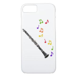 Funda Para iPhone 8/7 Música colorida del Clarinet