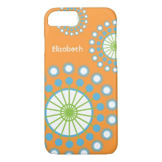 Funda Para iPhone 8/7 Naranja, azul, molinillo de viento verde