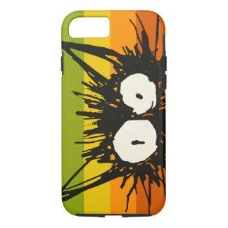 Funda Para iPhone 8/7 Naranja del gato del susto colorido