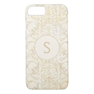 Funda Para iPhone 8/7 Nata floral y beige del damasco