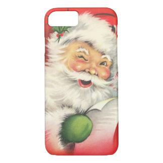 Funda Para iPhone 8/7 Navidad Papá Noel del vintage