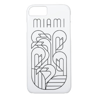Funda Para iPhone 8/7 Negro del flamenco de Miami