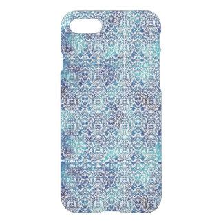 Funda Para iPhone 8/7 Niágara y damasco azul de Shibori del batik de