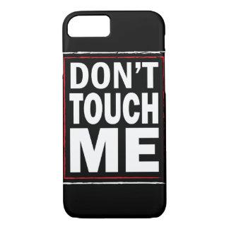 Funda Para iPhone 8/7 No me toque cubierta negra del iPhone 7