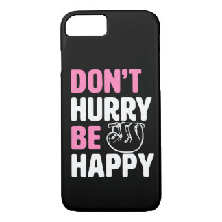 Funda Para iPhone 8/7 No se apresure sea rosa divertido feliz de la caja