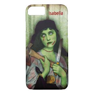 Funda Para iPhone 8/7 Nombre gótico del horror de Halloween del chica