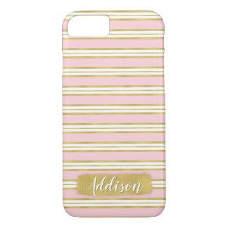 Funda Para iPhone 8/7 Nombre rosa claro del personalizado del modelo de