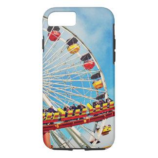 Funda Para iPhone 8/7 Noria del carnaval de la diversión y foto de la