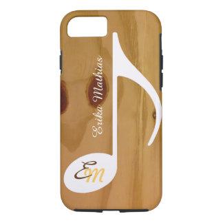 Funda Para iPhone 8/7 nota musical de encargo fresca sobre la madera,