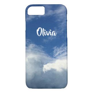 Funda Para iPhone 8/7 Nubes gordas magníficas en un cielo azul y blanco,