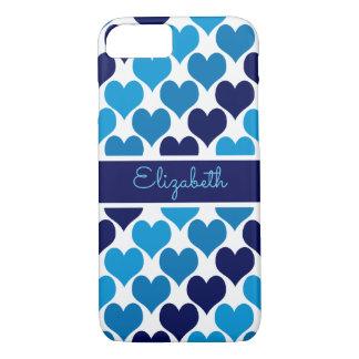 Funda Para iPhone 8/7 Oh monograma de los corazones de los azules cielos