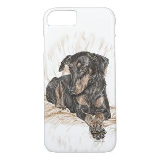 Funda Para iPhone 8/7 Oídos naturales del perro del Doberman para las