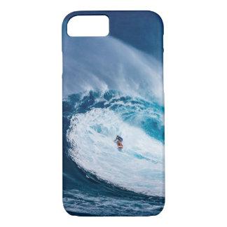Funda Para iPhone 8/7 Onda grande que practica surf el caso del iPhone