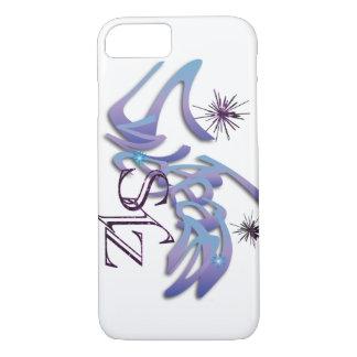 Funda Para iPhone 8/7 Opalesence y caja púrpura del iphone 7 del brillo
