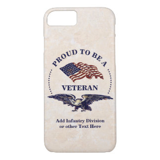Funda Para iPhone 8/7 Orgulloso ser un veterano
