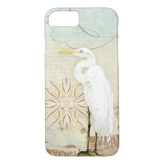 Funda Para iPhone 8/7 Orilla costera Egret náutico del arte de los