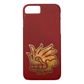 Funda Para iPhone 8/7 Oro AZTECA y rojo de Malinalli