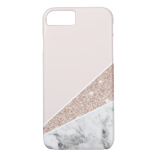 Funda Para iPhone 8/7 Oro color de rosa, brillo del oro, y mármol