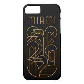 Funda Para iPhone 8/7 Oro del flamenco de Miami