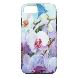 Funda Para iPhone 8/7 Orquídeas de la acuarela blancas y rosadas