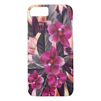 Funda Para iPhone 8/7 Orquídeas. Diseño tropical con las flores hermosas