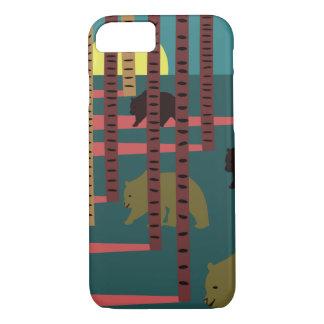 Funda Para iPhone 8/7 Osos que caminan en las maderas