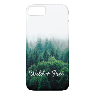 Funda Para iPhone 8/7 Paisaje verde fresco del bosque salvaje y libre