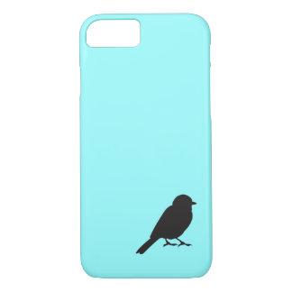 Funda Para iPhone 8/7 Pájaro azul elegante del trago de la silueta del