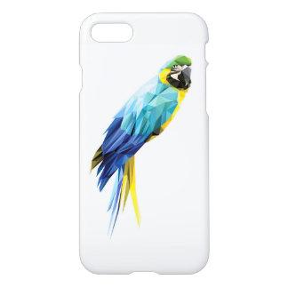 Funda Para iPhone 8/7 Pájaro bajo del polígono del Macaw azul
