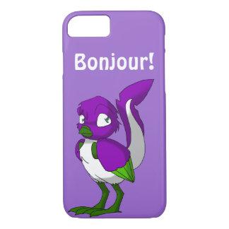 Funda Para iPhone 8/7 Pájaro reptil púrpura/del verde/blanco Bonjour