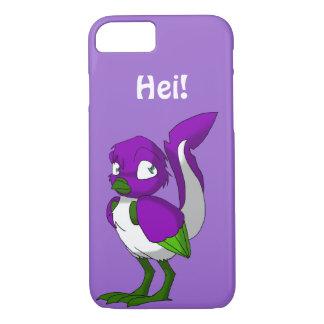 Funda Para iPhone 8/7 Pájaro reptil púrpura/del verde/blanco Hei