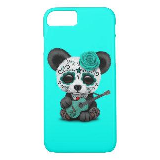 Funda Para iPhone 8/7 Panda azul del cráneo del azúcar que toca la