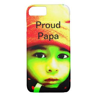 Funda Para iPhone 8/7 Papá orgullosa con la foto del niño
