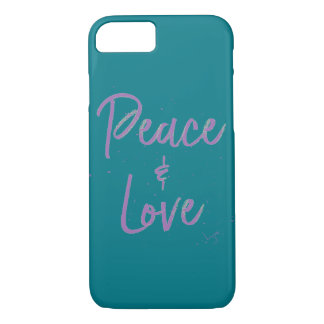 Funda Para iPhone 8/7 Paz-y-Amor-Púrpura