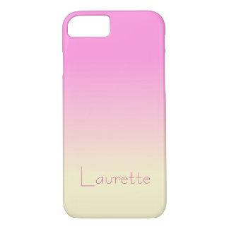 Funda Para iPhone 8/7 Pendiente rosada y poner crema del caramelo simple