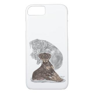 Funda Para iPhone 8/7 Perrito lindo del Pinscher del Doberman