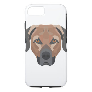 Funda Para iPhone 8/7 Perro Brown Labrador del ilustracion