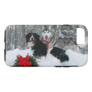 Funda Para iPhone 8/7 Perro de Bernese Mt y caja del teléfono del husky
