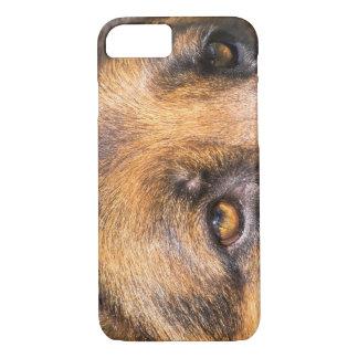 Funda Para iPhone 8/7 Perro de pastor alemán, cierre para arriba en ojos
