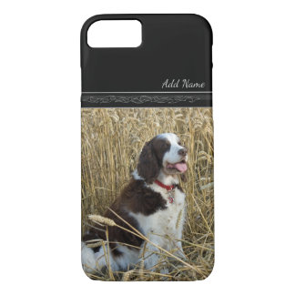 Funda Para iPhone 8/7 Perro que se sienta en caso de encargo del mascota