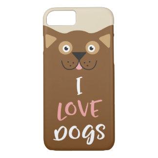 Funda Para iPhone 8/7 Perros lindos del amor del dibujo animado I