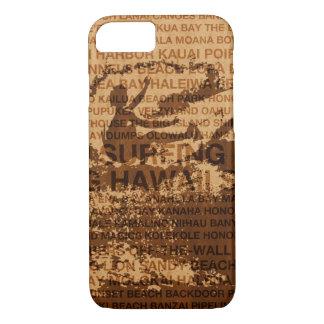 Funda Para iPhone 8/7 Persona que practica surf de madera de la