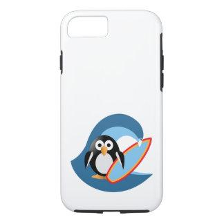 Funda Para iPhone 8/7 Persona que practica surf del pingüino