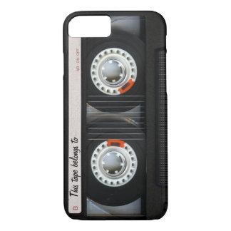 Funda Para iPhone 8/7 Personalizable retro de la cinta de casete de