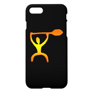 Funda Para iPhone 8/7 Petroglifo hawaiano del hombre de la paleta