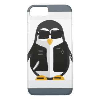 Funda Para iPhone 8/7 Pingüino del motorista