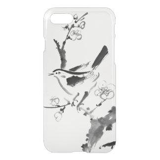 Funda Para iPhone 8/7 Pintura china, flor del ciruelo y pájaro